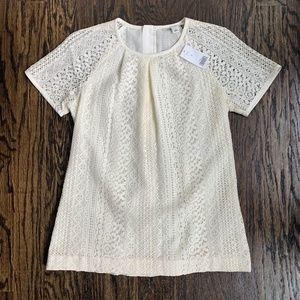 NEW! Banana Republic Winter White Lace Top